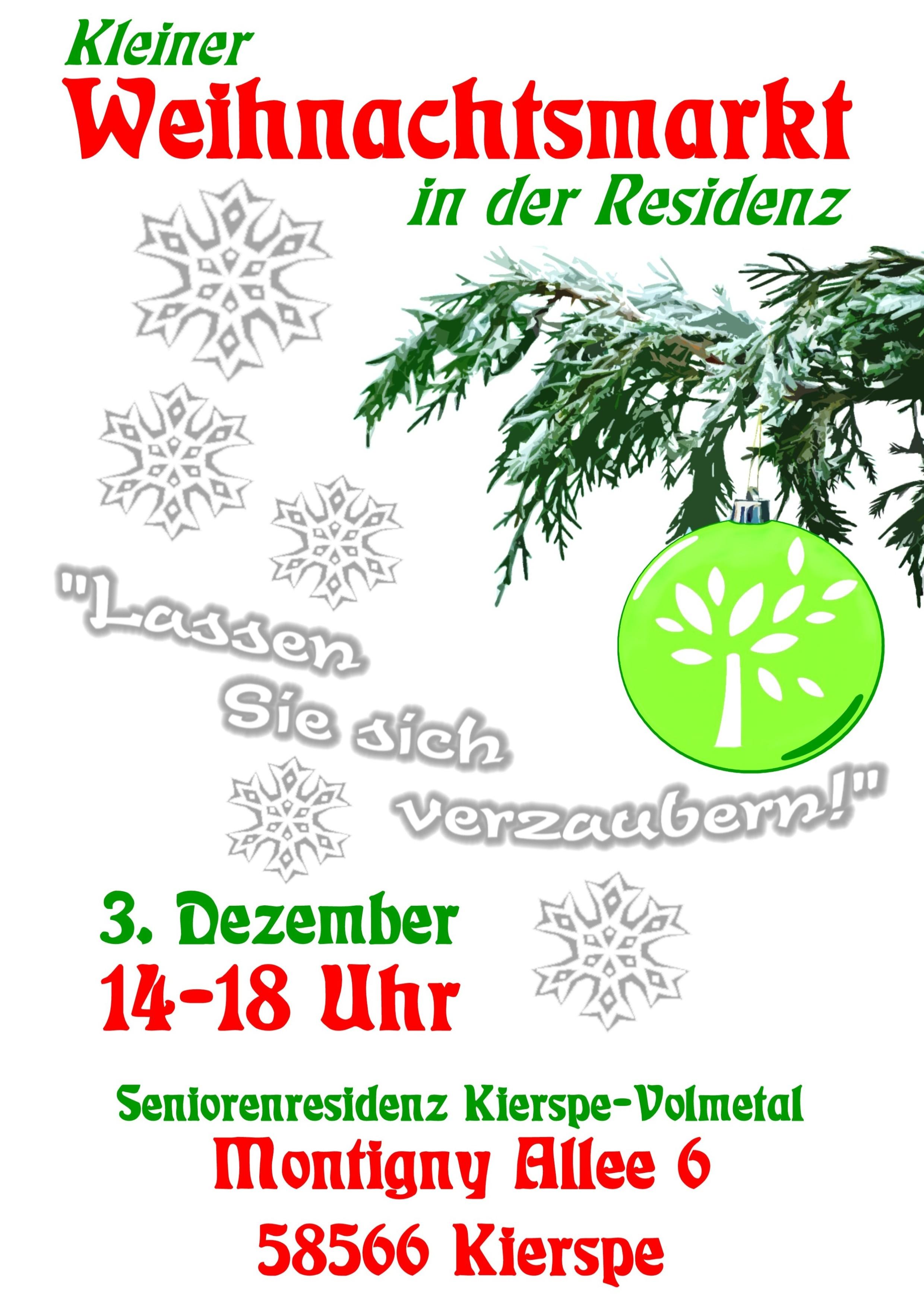 einladung zum weihnachtsmarkt in der residenz !, Einladungen